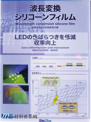 圖十六、LED波長轉換矽膠膜