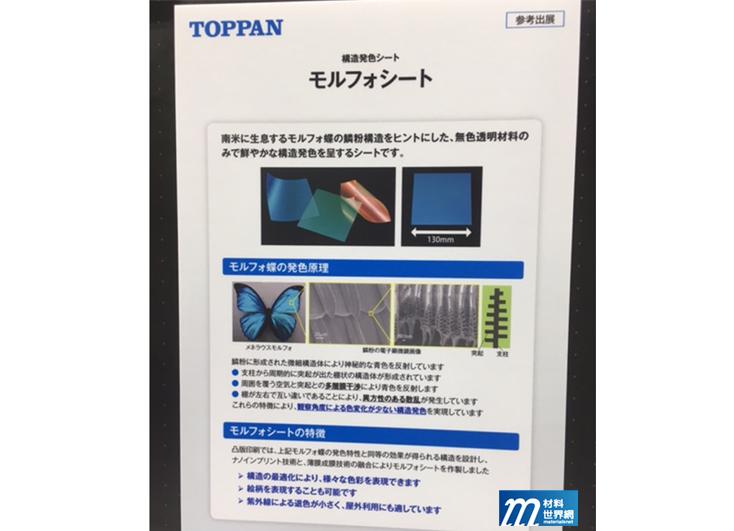 圖十三、TOPPAN干涉色彩之Morphosheet