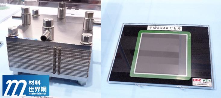 圖廿、日本特殊陶業展出之平板型陶瓷燃料電池組