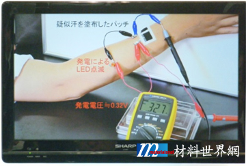圖十八、發汗形成乳酸代謝的電位差約0.32V