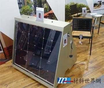 圖十五、SHARP之節能商店用太陽能發電招牌、座椅