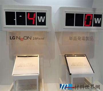 圖三、LG展示的雙面太陽能電池模組利用漫射光發電