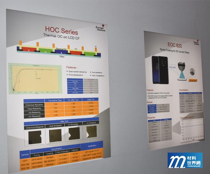圖十一、永光展出廣視角技術用面板熱固型材料,應對手機與車載市場