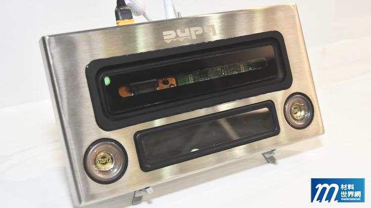 圖九、宏益利用超薄強化玻璃製作重低音喇叭,將進入商品化階段