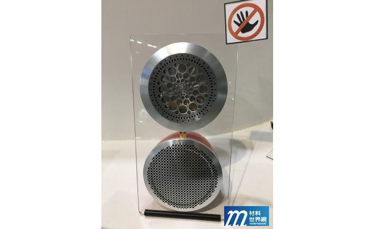 圖廿三、工研院利用軟性壓電材料製作的喇叭,在高音頻具有極優異表現