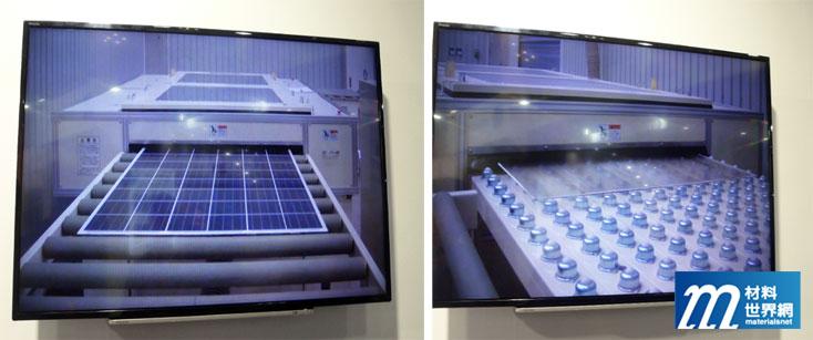 圖五、Toshiba 環境工程的設備熱解膠分離玻璃流程