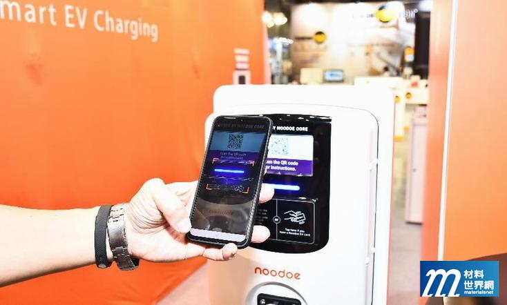圖七、Noodoe智慧充電站以QR Code即可進行,在加州有相當多的實績,並可配合飯店等不同業者提供解決方案