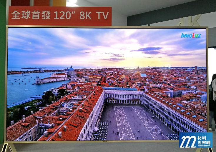 圖一、群創120吋8K TV