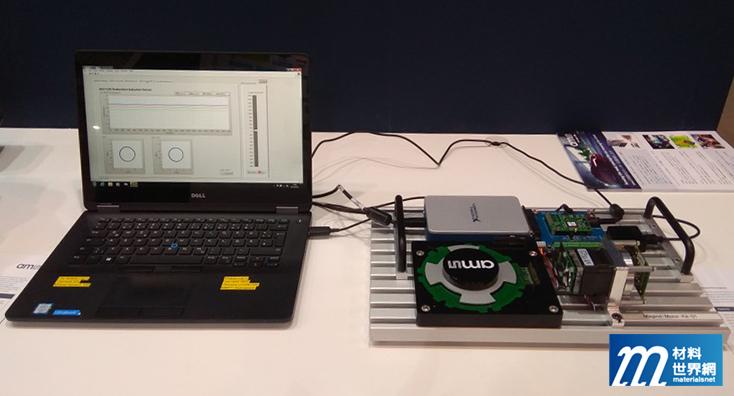 圖十七、AMS展出定位感測器,利用磁變化進行定位
