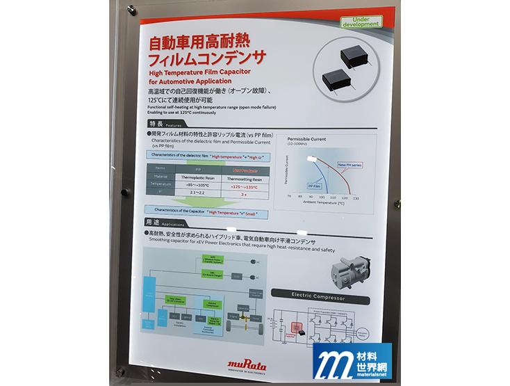 圖十九、muRata展出高耐熱薄膜電容器,具高耐熱、高介電常數特性