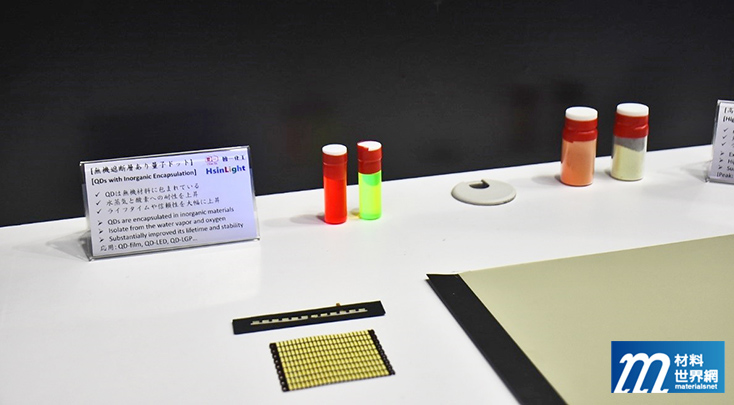 圖四、新華光能量子點材料,克服水氣、氧化等應用問題