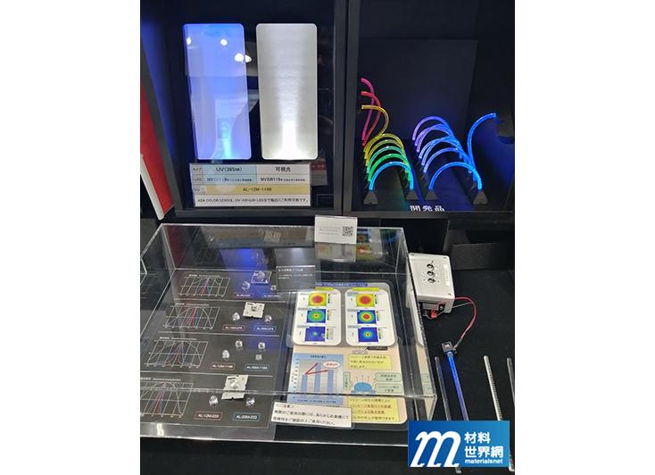 圖二十四、朝日橡膠展出LED光源處理技術,主要利用矽膠進行