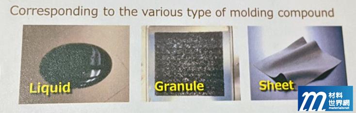 圖九、APIC YAMADA模封設備支援液態、顆粒狀與片狀封裝材料模封製程