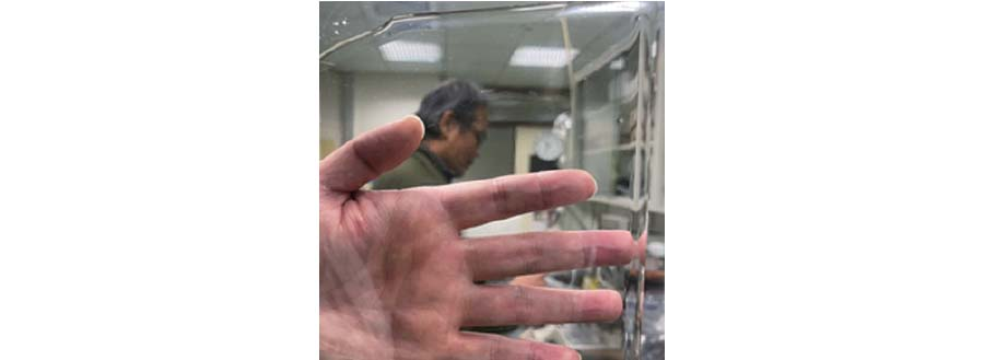 圖二、抗衝擊高阻尼透明膜層材料