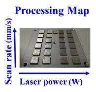 3DP Processing parameters & Material validation